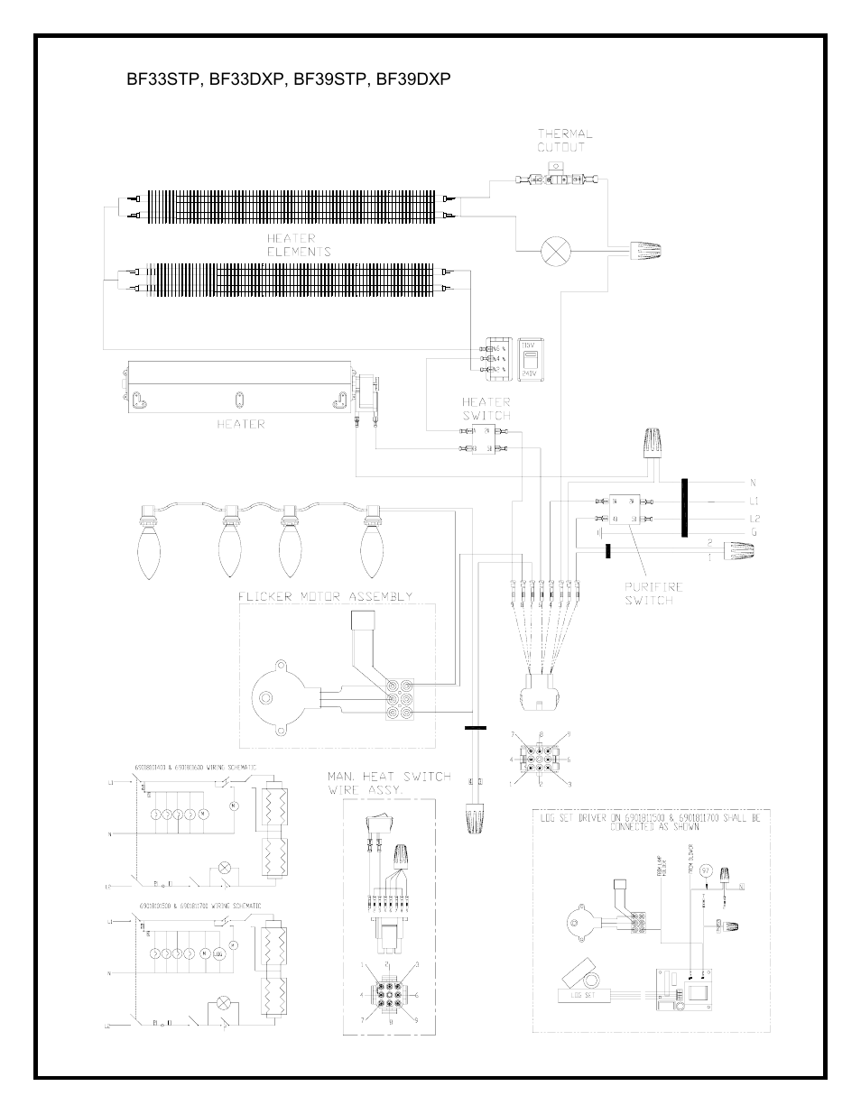 Wiring       diagram      Dimplex BF39STPDXP    User    Manual   Page 8  27