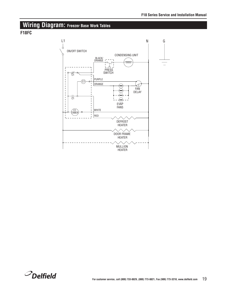 [DIAGRAM_0HG]  Delfield, Wiring diagram, F18fc | Delfield F18BC User Manual | Page 19 / 22 | Delfield Refrigerator Wiring Diagram |  | Manuals Directory