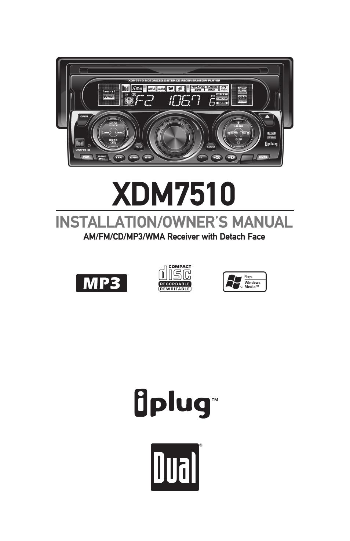 dual xdm7510 user manual 20 pages rh manualsdir com