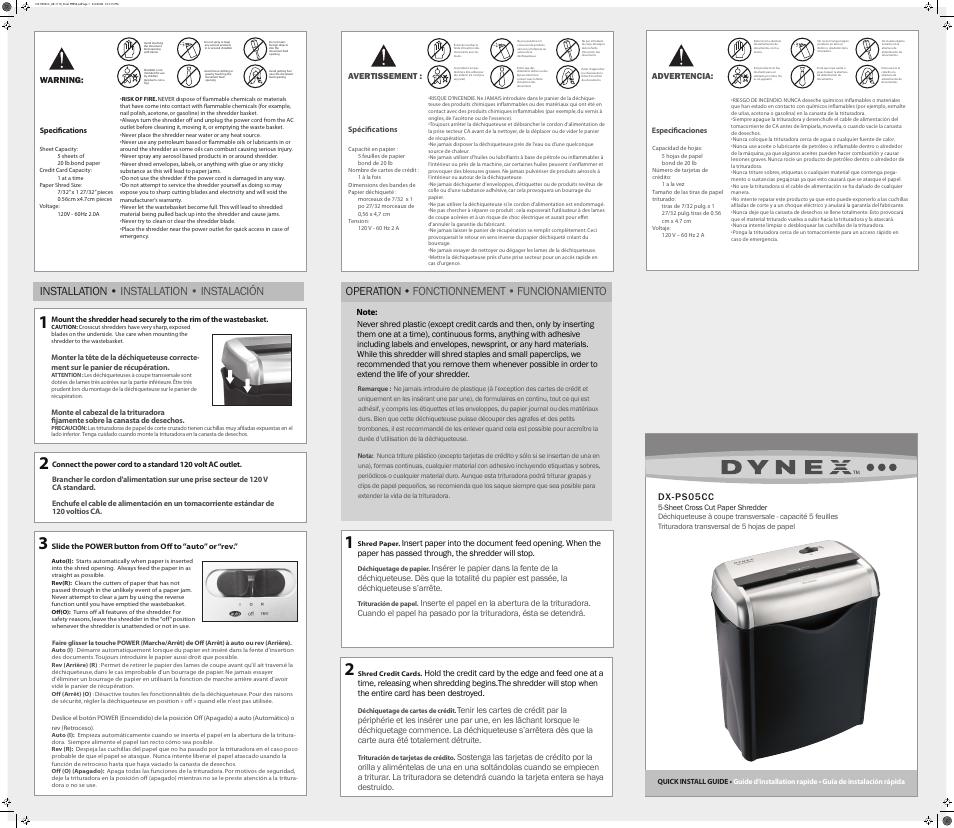 dynex dx ps05cc user manual 1 page original mode rh manualsdir com Dynex Remote dynex service manual