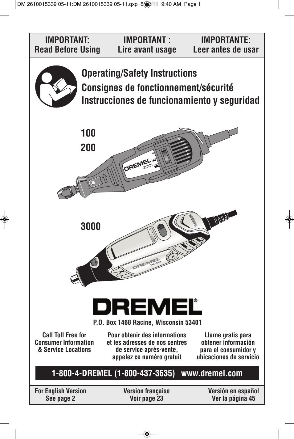 dremel 3000 user manual 68 pages original mode also for 200 100 rh manualsdir com manual for dremel model 395 manual for dremel model 395
