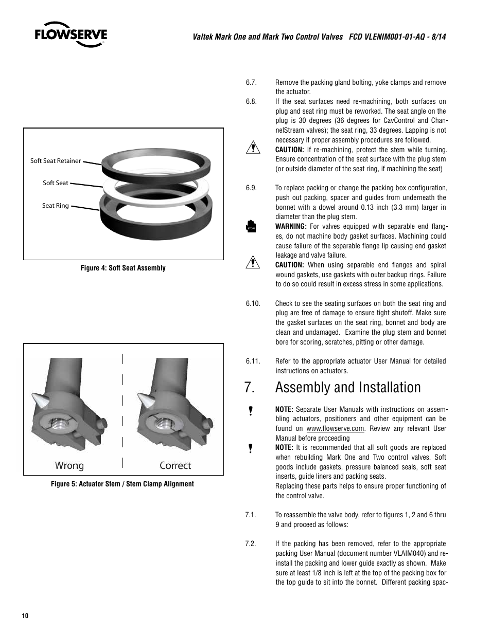 Flowserve valtek mark one three-way control valve user manual | 4.