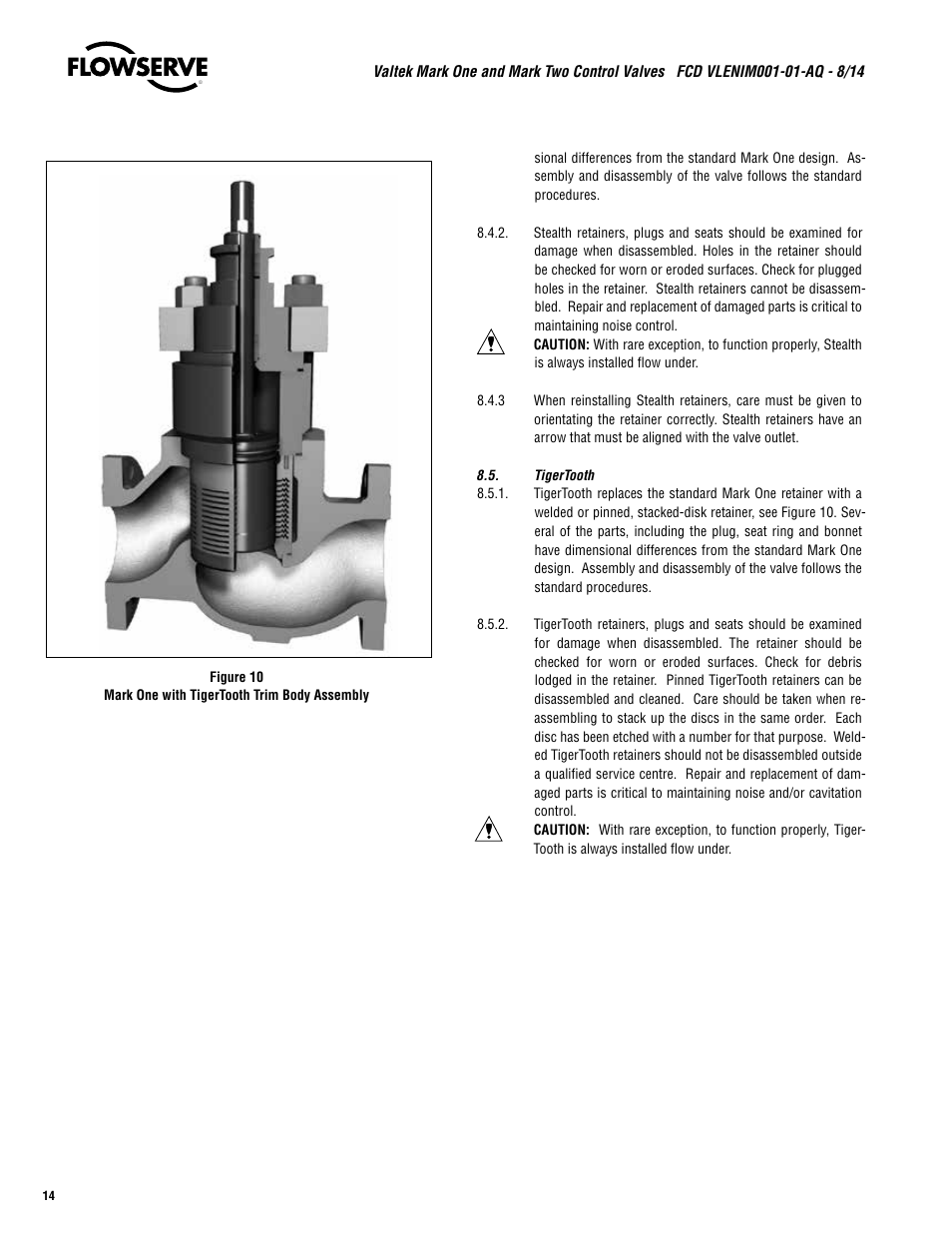 Flowserve Valtek Mark One and Mark Two Control Valves User Manual | Page 14  / 16