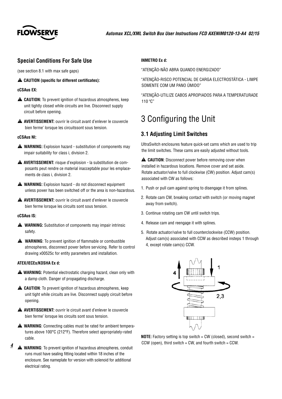 Automax Limit Switch Xcl Wiring Diagram Question About Omron 3 Configuring The Unit Flowserve Ultraswitch User Rh Manualsdir Com Momentary