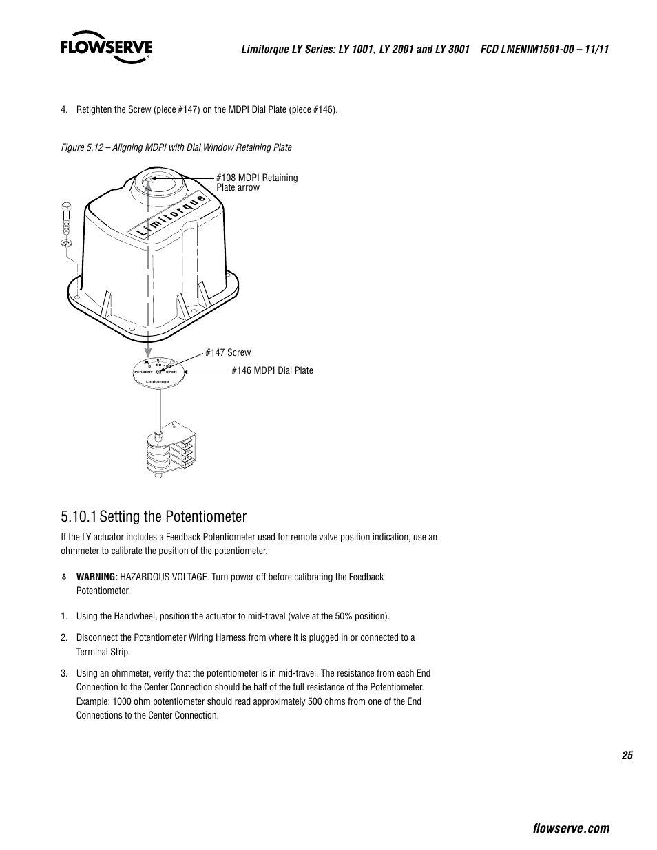 1 Setting The Potentiometer Flowserve Ly Series Limitorque User Wiring Diagram Manual Page 25 64