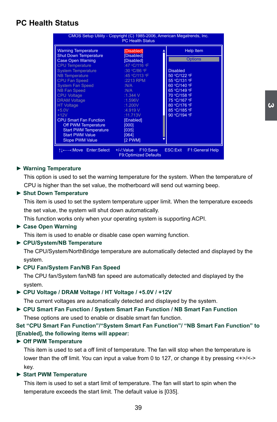 Pc health status | Foxconn A88GA User Manual | Page 46 / 54