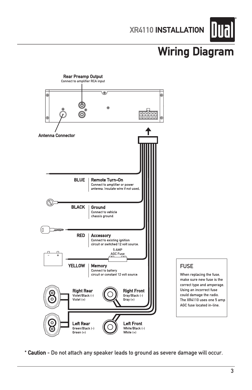 Wiring Diagram  Xr4110 Installation