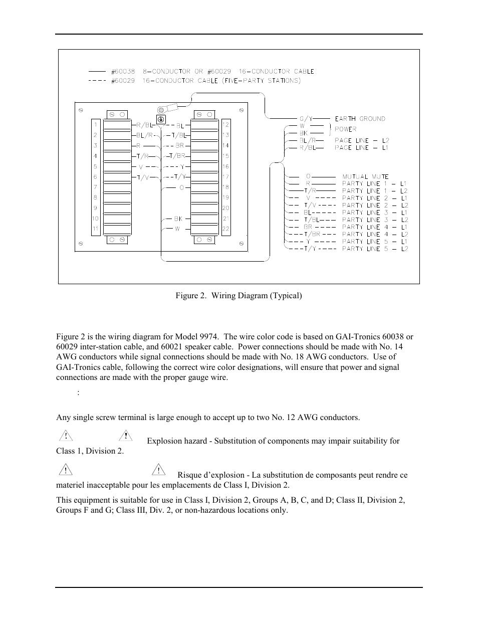 Wiring Gai Tronics 9974 Junction Box User Manual Page 3 5 John Deere Diagram 997