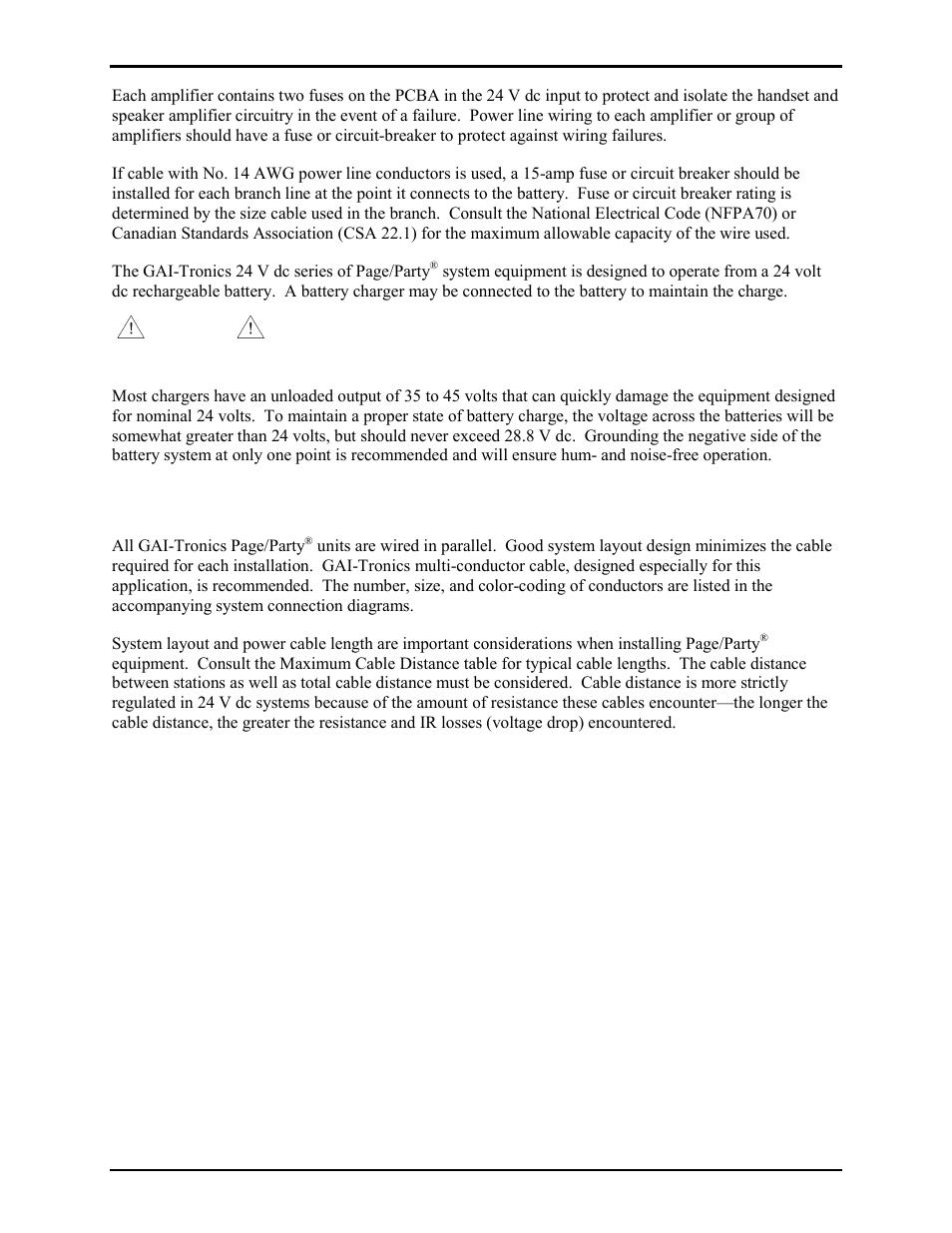Enclosure Placement Gai Tronics 7245 003 24 V Dc Remote Subset Volt Battery Circuit Diagram Amplifier User Manual Page 2 12