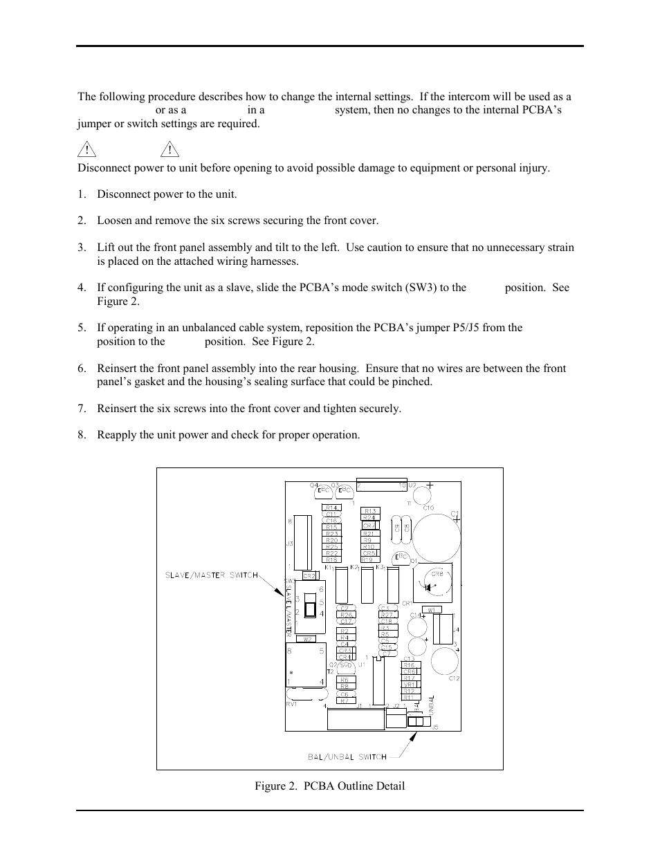 Internal Settings Gai Tronics Gc Ac1 Ez Page Industrial Intercom Switch Wiring Diagram User Manual