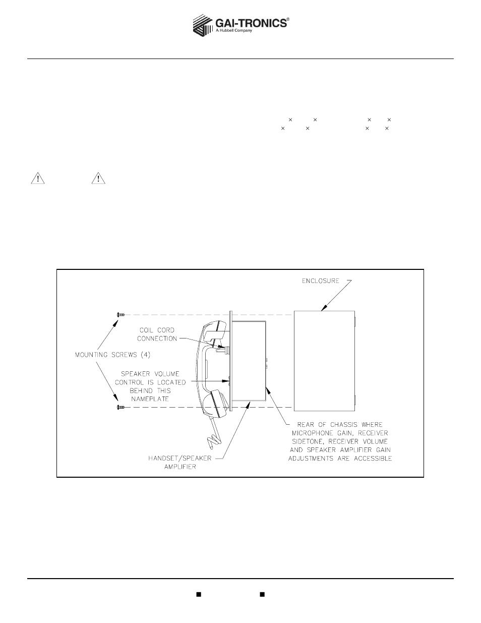 GAI-Tronics 701-302 Page/Party Handset/Speaker Amplifier (115 V AC
