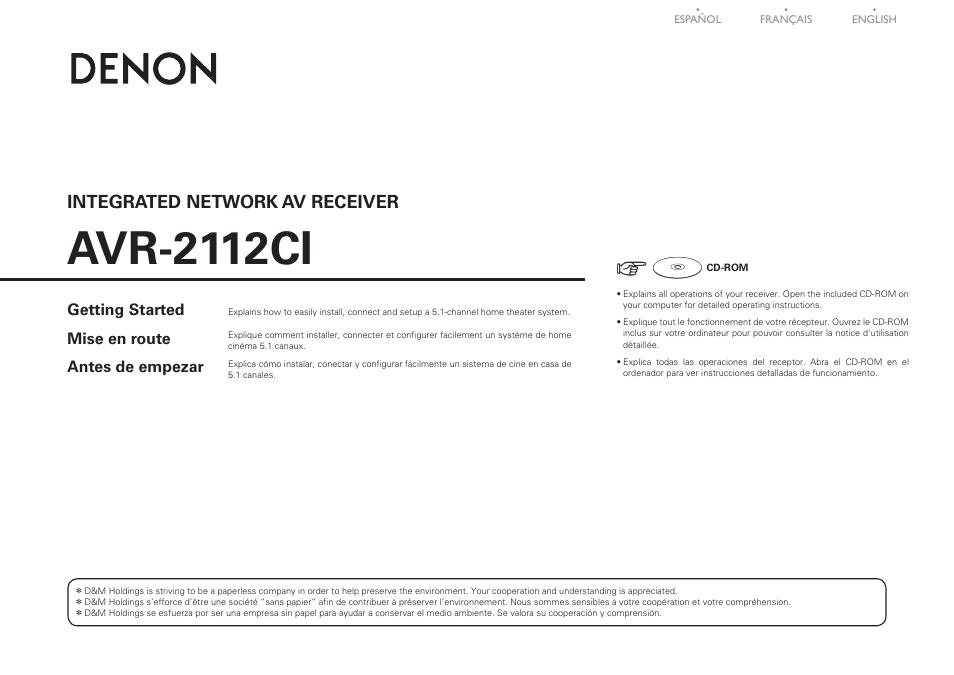 denon avr 2112ci user manual 14 pages original mode rh manualsdir com avr 2112ci manual pdf AVR- 1912
