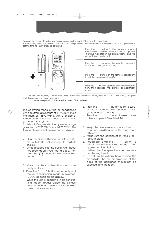 delonghi cf 210 user manual page 7 14 rh manualsdir com delonghi cf210 manual pdf DeLonghi Remote Control