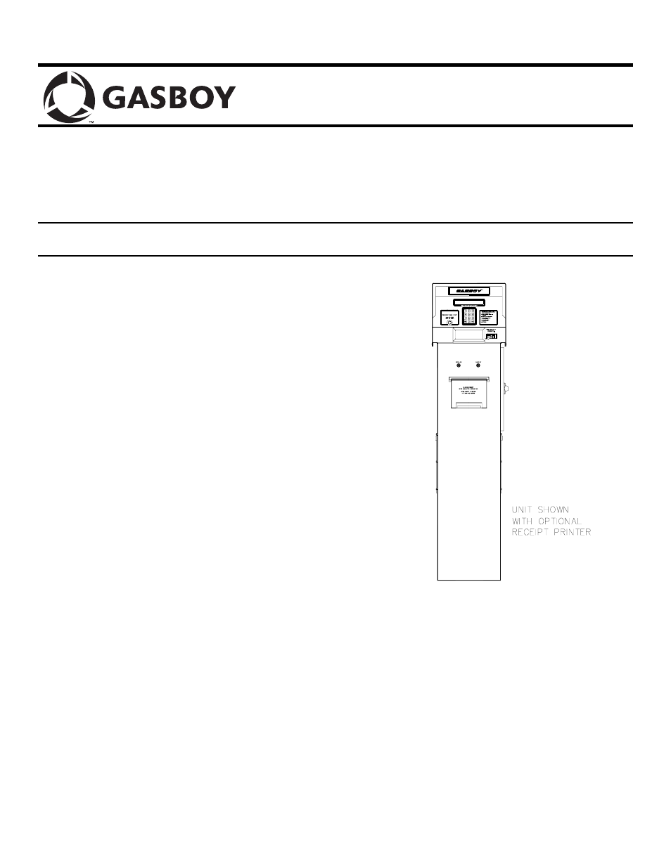 Gasboy 1000 Series Installation User Manual | 8 pages on