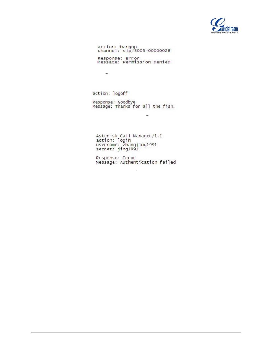 Figure 14: example 3, Figure 15: example 4, Log off