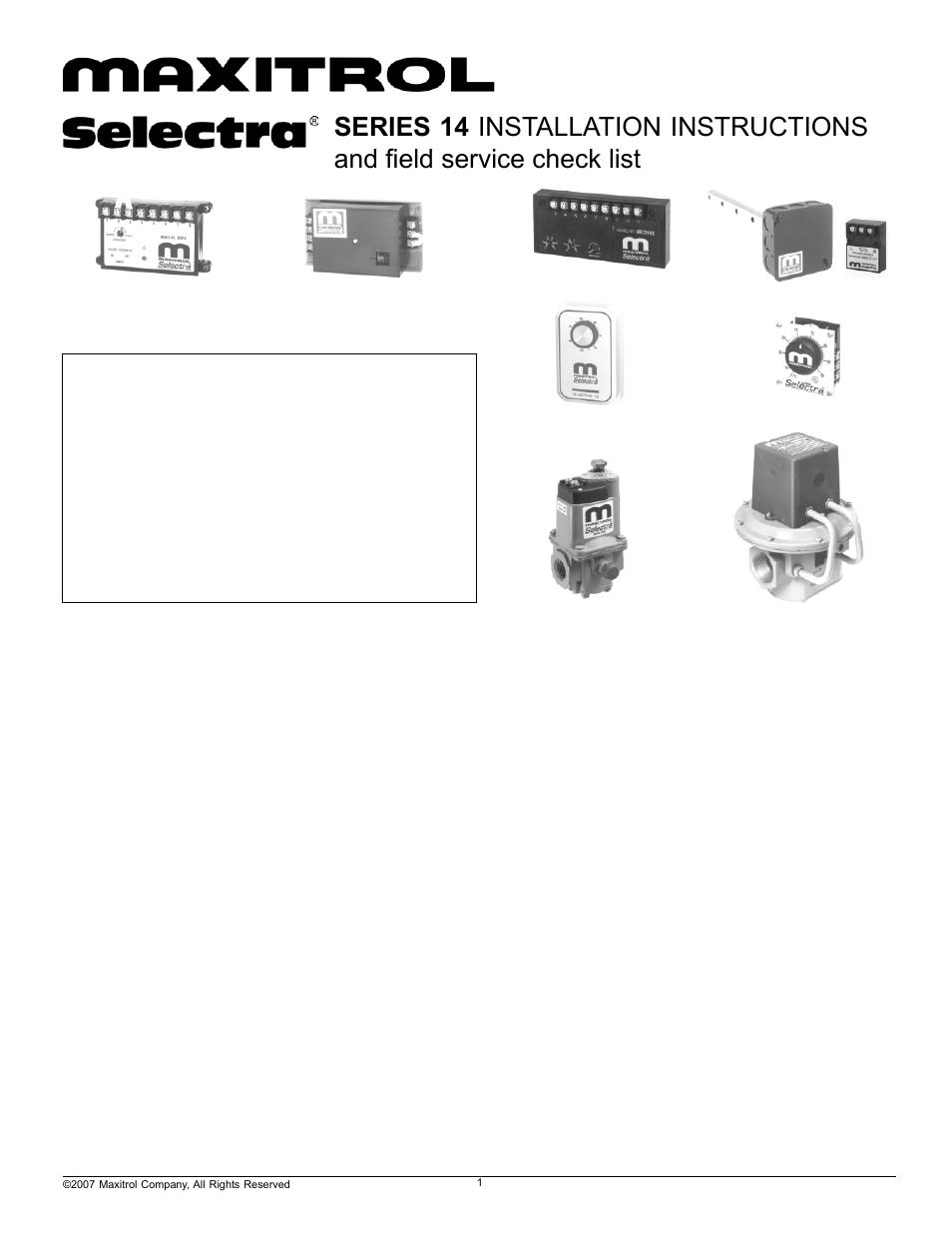 Greenheck Maxitrol Series 14 User Manual