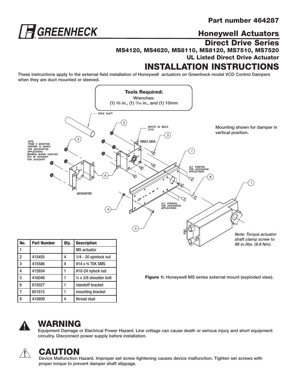 Greenheck Ms4120 Ms4620 Ms8120 Ms7520 Series 464287 User Manual. Greenheck Ms4120 Ms4620 Ms8120 Ms7520 Series 464287 User Manual 2 Pages. Wiring. Honeywell Ms7520 Actuator Wiring Diagram At Scoala.co
