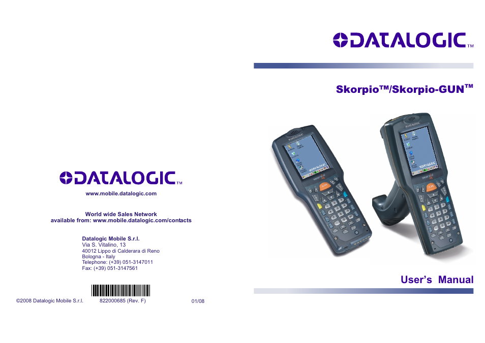 datalogic scanning skorpio gun user manual 99 pages also for rh manualsdir com Datalogic Skorpio X3 Datalogic Skorpio X3