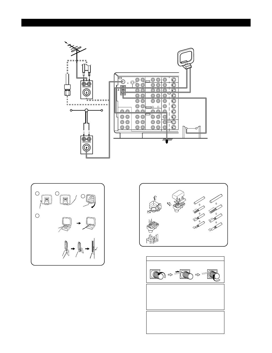 connecting the antenna terminals denon avr 4800 user manual page rh manualsdir com Denon AVR 3801 All denon avr 4800 service manual