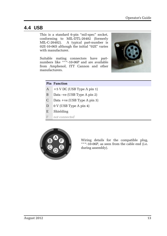 4 Usb Guralp Systems Cmg 40tde User Manual Page 13 15 Dc Plug Wiring Assembly