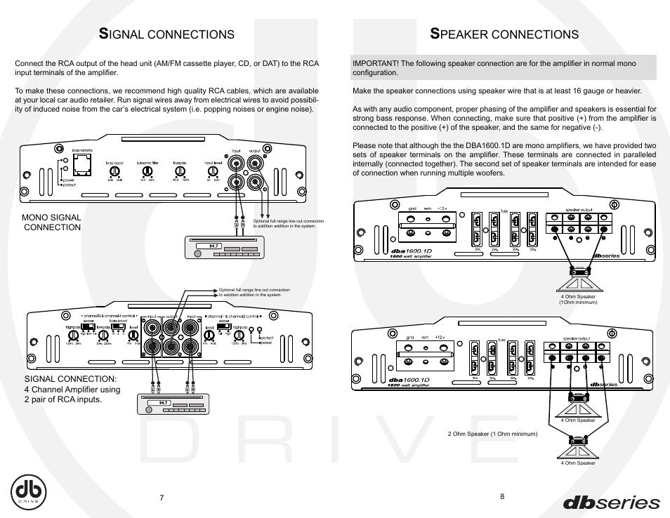Db Drive Amp Wiring Diagram | Repair Manual on