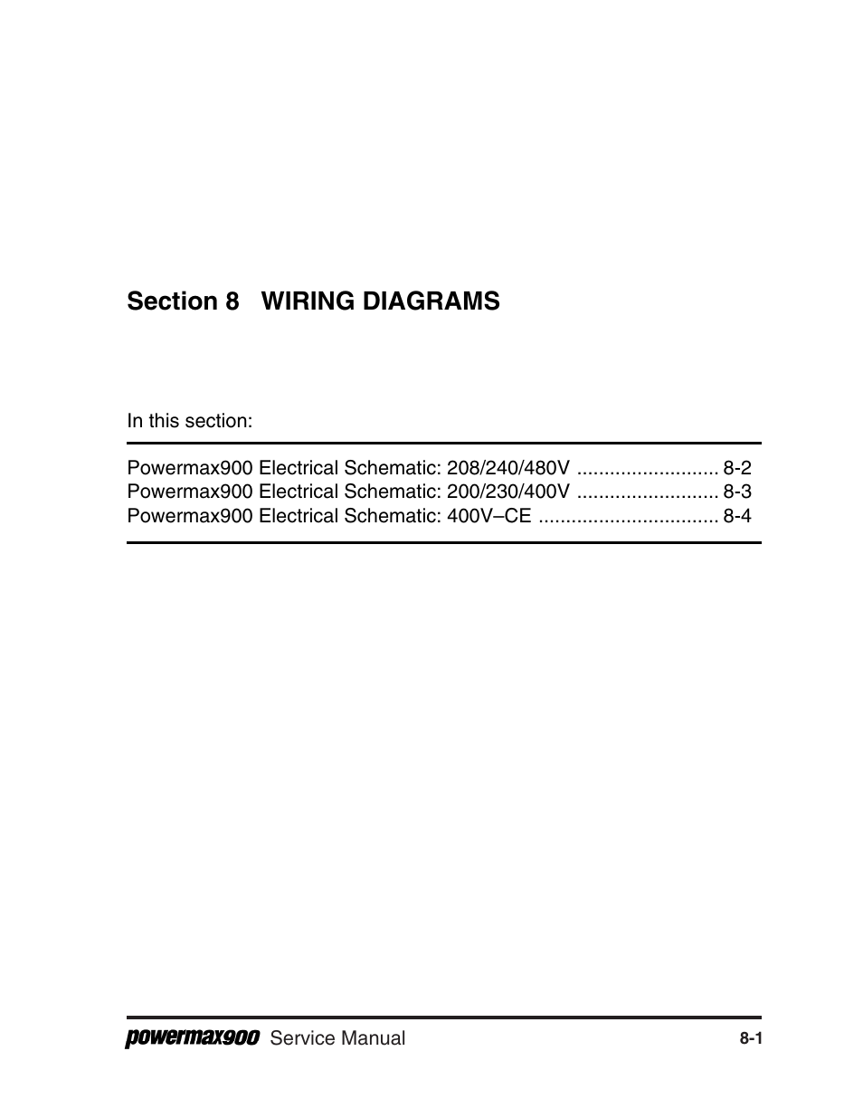 Section 8 Wiring Diagrams