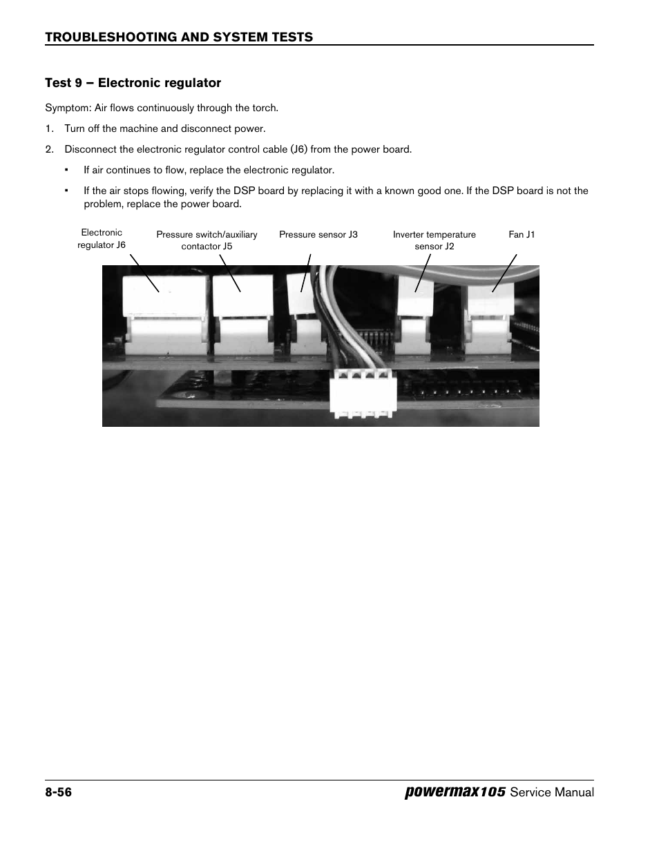 Test 9 – electronic regulator, Test 9 – electronic regulator -56