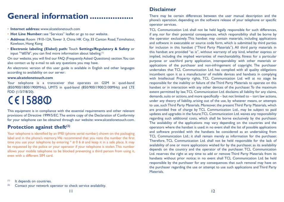 Alcatel idol 3 user manual