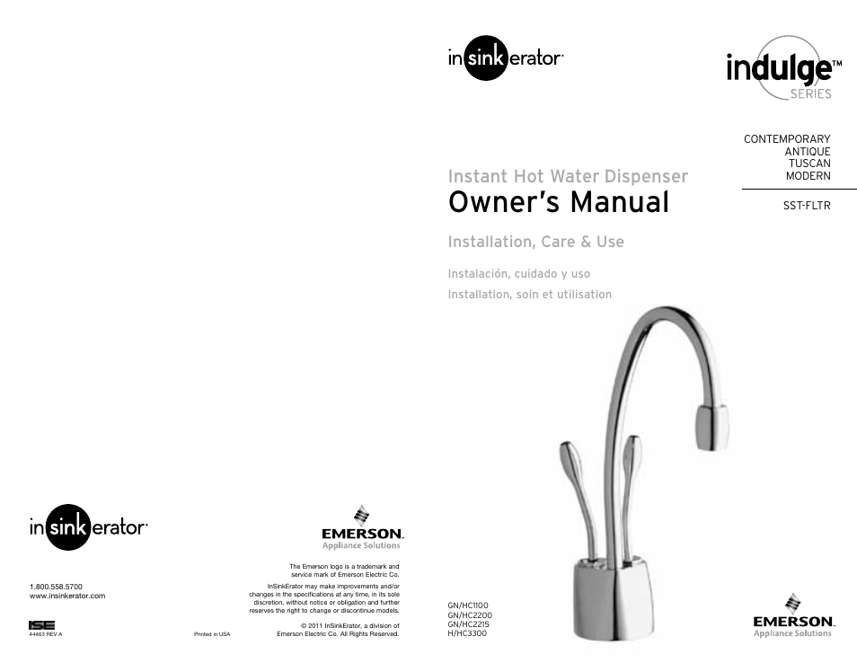 Insinkerator hwt-f1000s tank and filter system user manual | 26.