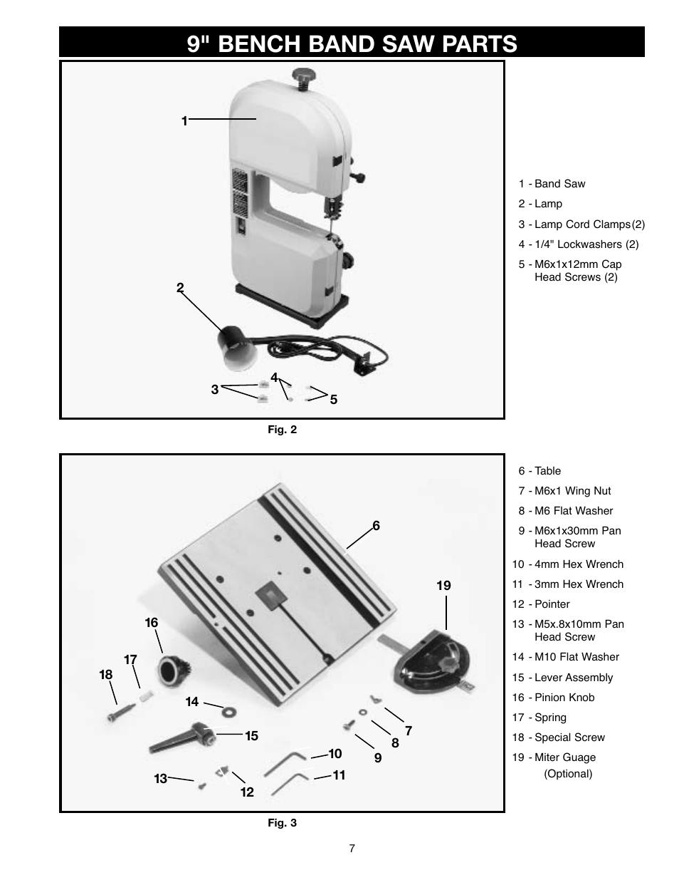 9 Bench Band Saw Parts Delta Master Sm400 User Manual
