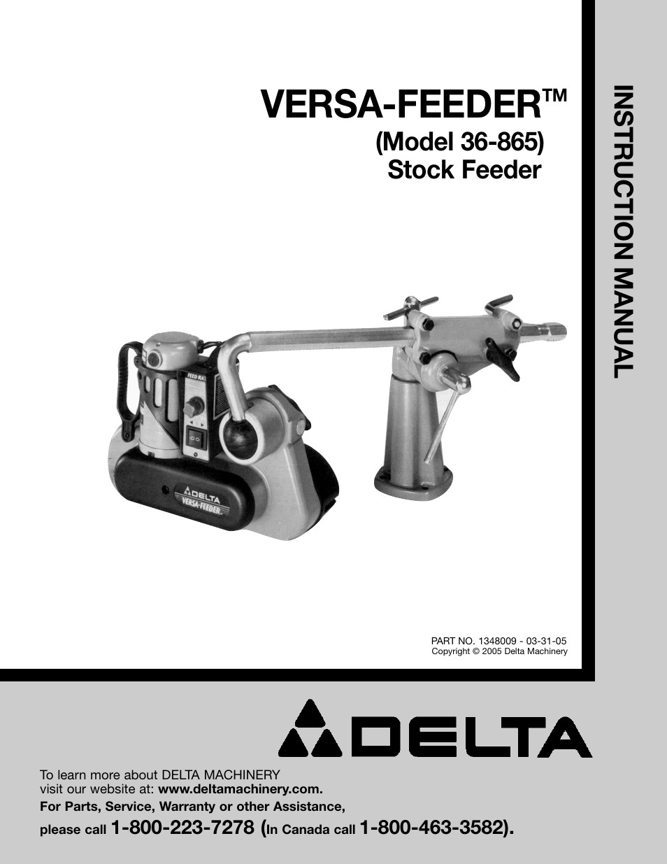 Delta 36-865 User Manual | 20 pages