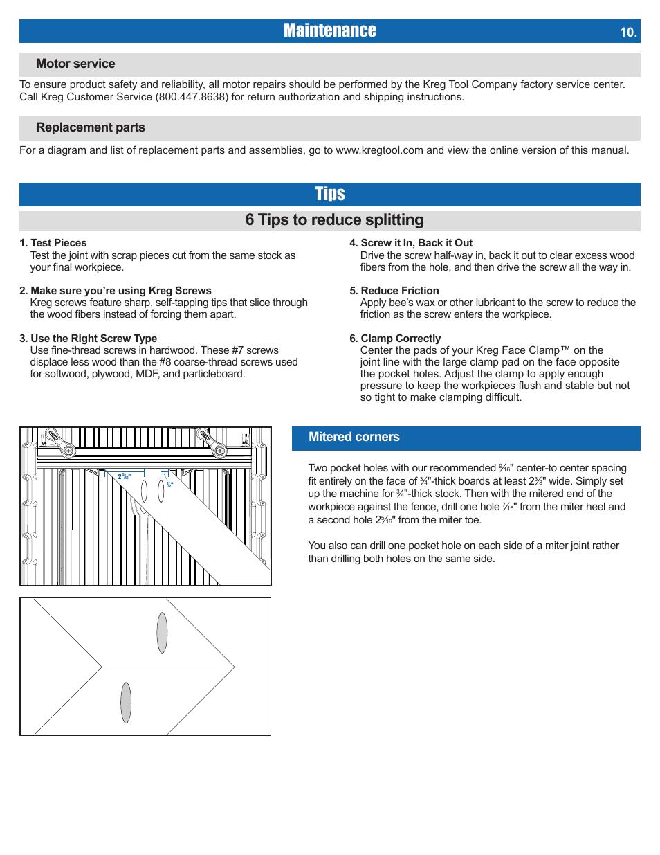 Maintenance, Tips, 6 tips to reduce splitting | Kreg DB210 Foreman
