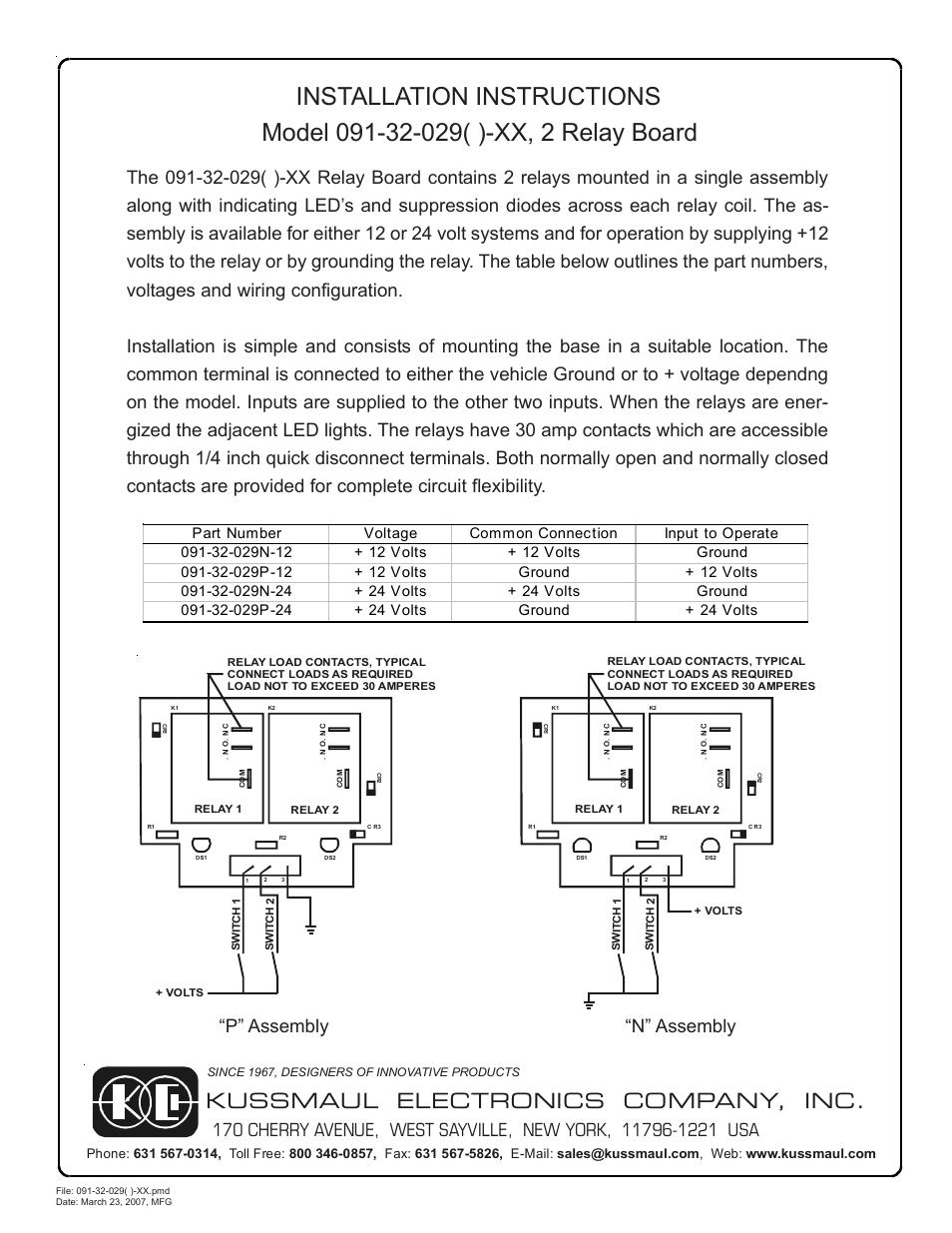 Kussmaul Electronics 091 32 029 User Manual 1 Page 24 Volt Led Wiring Diagram
