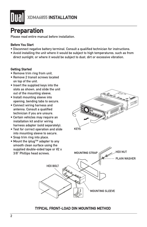 preparation xdma6855 installation dual xdma6855 user manual rh manualsdir com Wiring Harness Diagram 2002 Chevy Wiring Harness Diagram