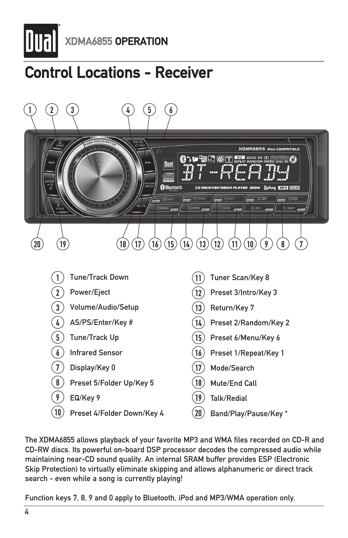 control locations receiver xdma6855 operation dual xdma6855 rh manualsdir com