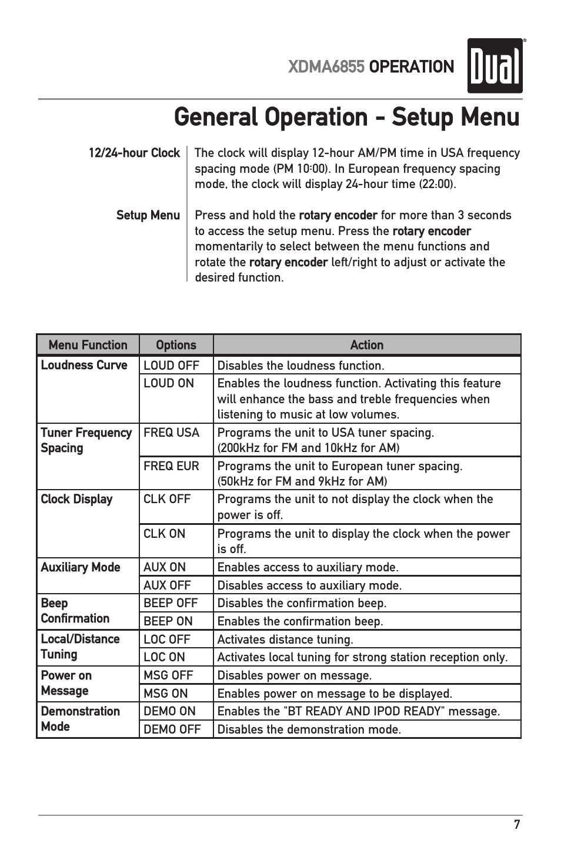 general operation setup menu xdma6855 operation dual xdma6855 rh manualsdir com