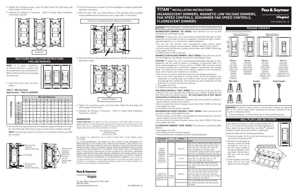 Legrand AN Series v.4 User Manual | 2 pages | Also for: AN ... on legrand cable, legrand connector, legrand switch, legrand distribution board,