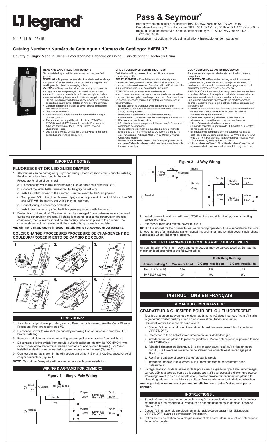 Harmony Dimmer Wiring Diagram Diagrams Scematic Led Legrand H4fbl3p User Manual 2 Pages Also For Td703p Chandelier