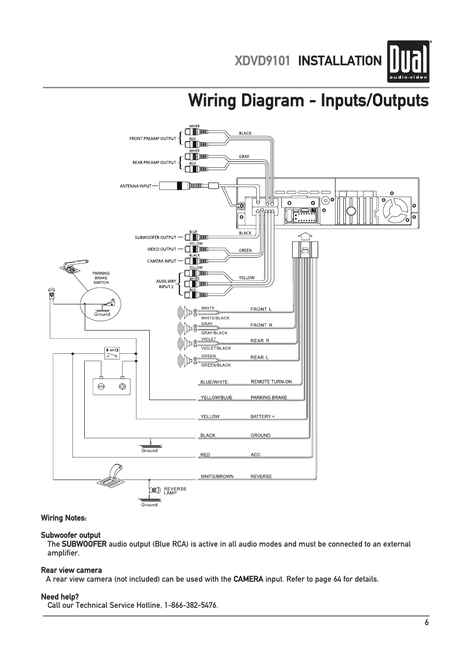 Wiring Diagram  Outputs  Xdvd9101 Installation