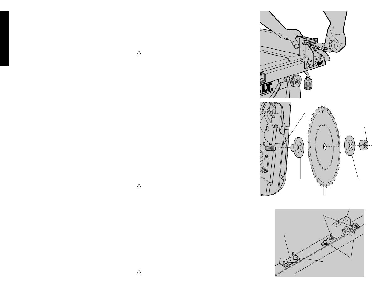 bench mounting english dewalt dw744 user manual page 8 37 rh manualsdir com De Walt DW746 dewalt dw744 owners manual