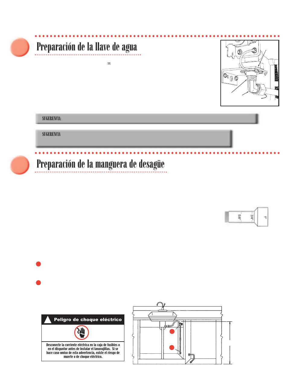 preparaci n de la llave de agua preparaci n de la manguera de rh manualsdir com O-Ring Installation Guide Gutter Installation Guide