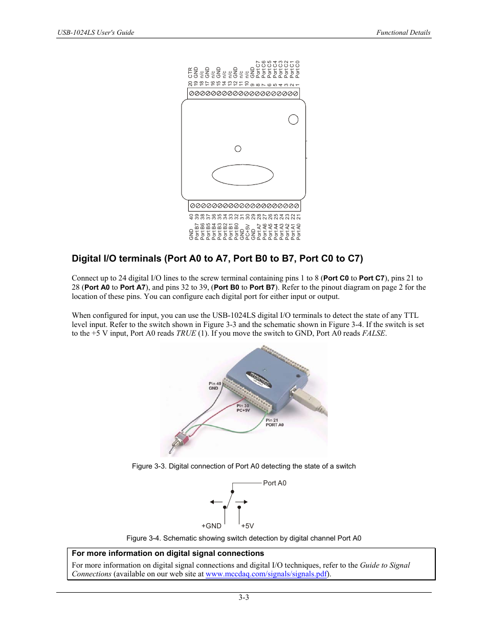 Pins 21 to 28, And pins 32 to 39, Figure 3-4   Measurement Computing  USB-1024LS User Manual   Page 13 / 19