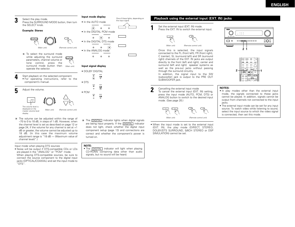 english denon avr 2802 user manual page 21 74 original mode rh manualsdir com denon avr 2802 user manual pdf denon receivers avr 2802 manual