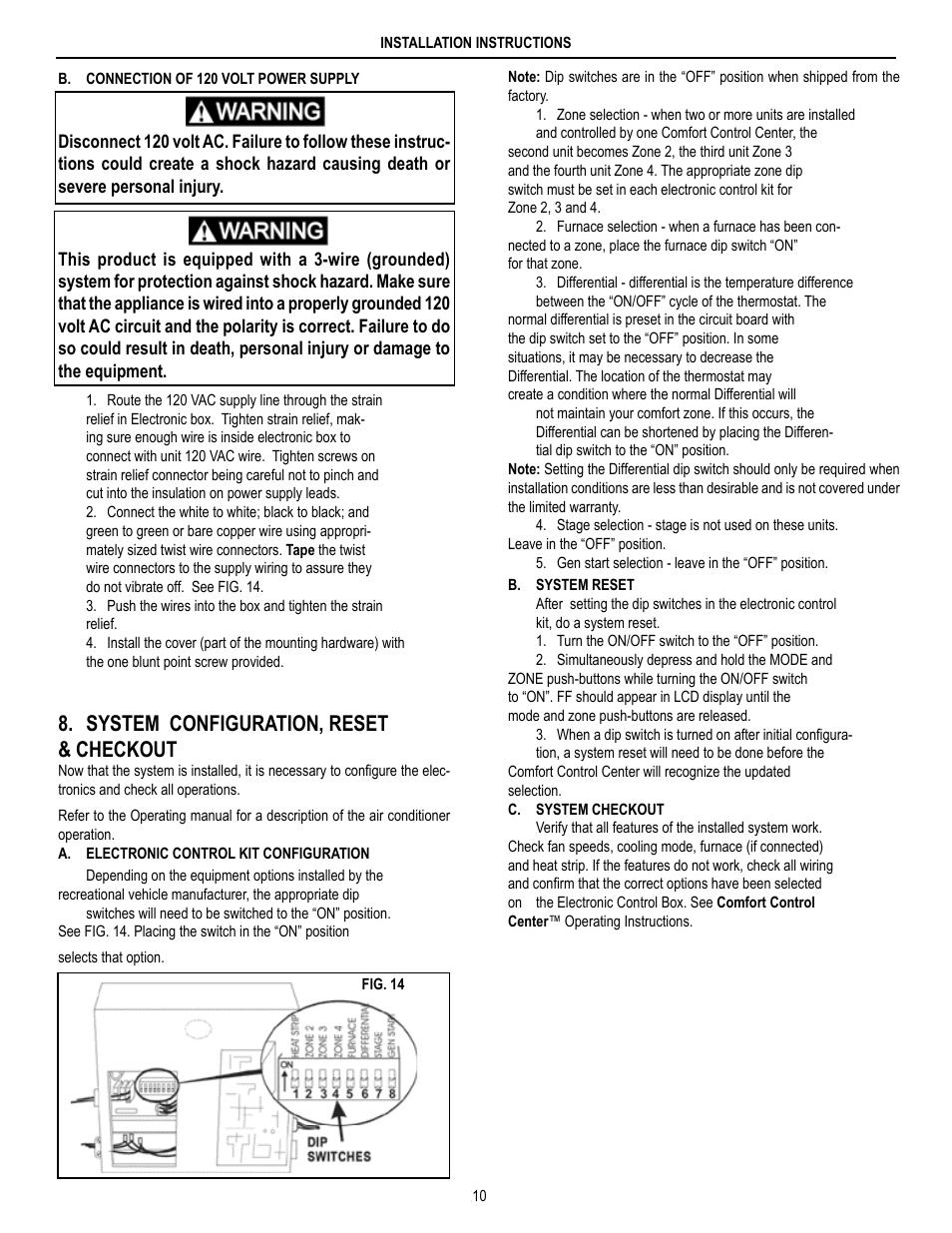 Dometic Brisk Air 590 Series User Manual Manual Guide