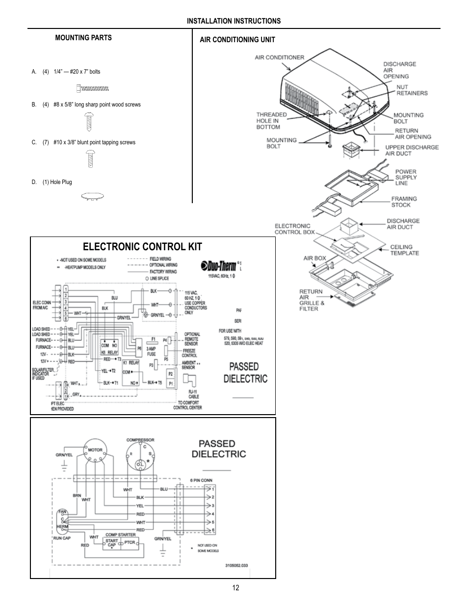 electronic control kit unit field wiring diagram