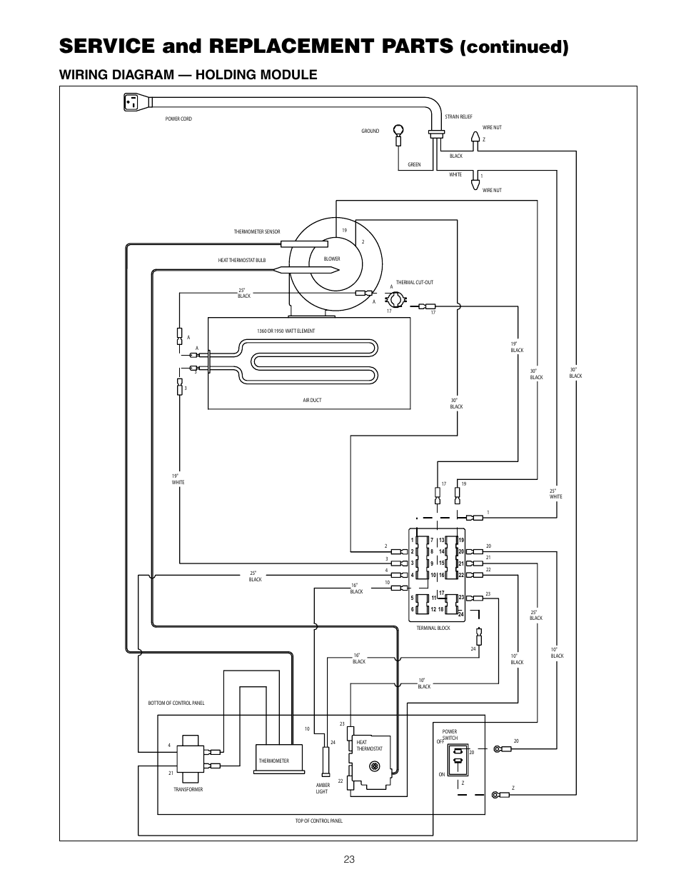 Service And Replacement Parts  Continued   Wiring Diagram  U2014 Holding Module