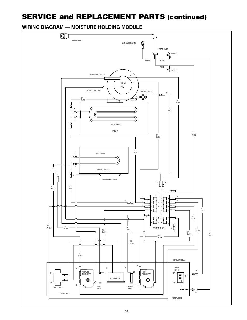 service and replacement parts  continued   wiring diagram  u2014 moisture holding module