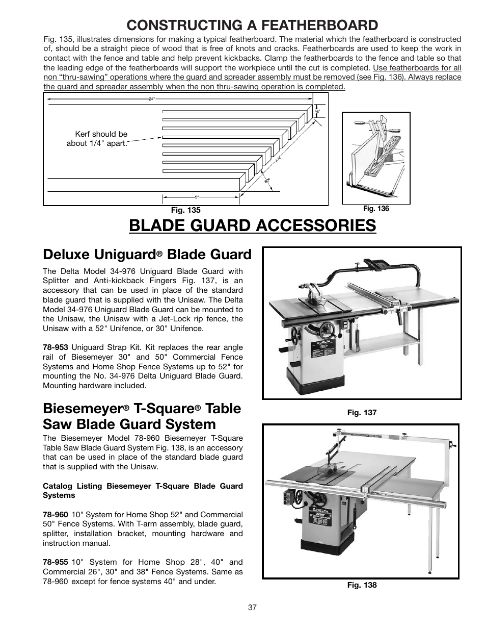 Blade guard accessories constructing a featherboard deluxe blade guard accessories constructing a featherboard deluxe uniguard delta 36 841 user manual page 37 40 keyboard keysfo Images