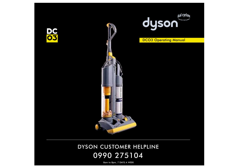 dyson dc03 user manual 6 pages rh manualsdir com Dyson DC05 dyson dc03 repair manual