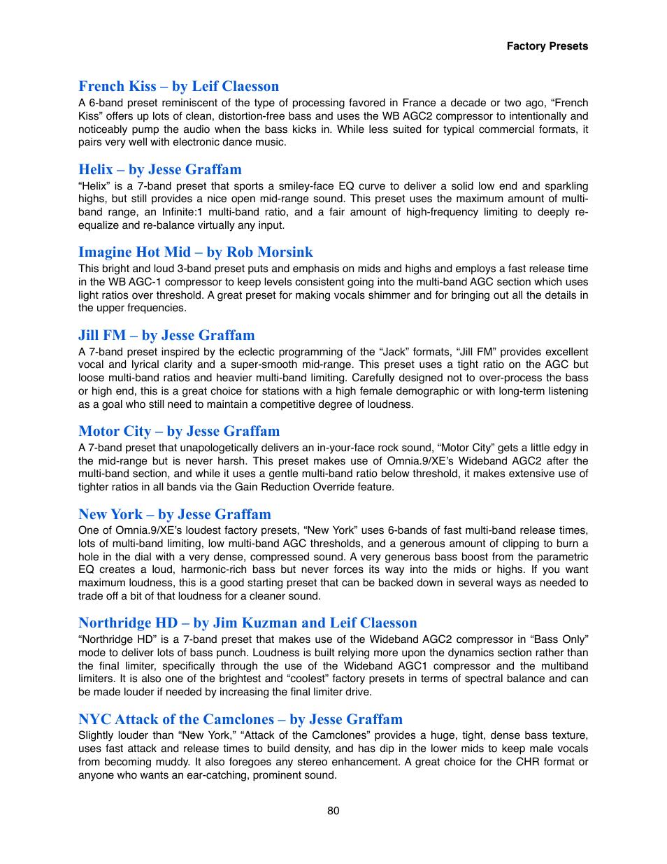 Omnia Audio Omnia 9/XE User Manual | Page 80 / 108